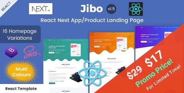 Jibo React Next App/Product Landing Page Templates