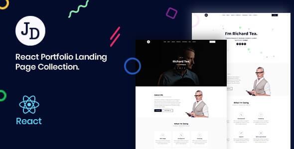 John React Minimal Portfolio OnePage Template
