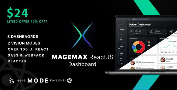 Magemax React JS Admin Dashboard