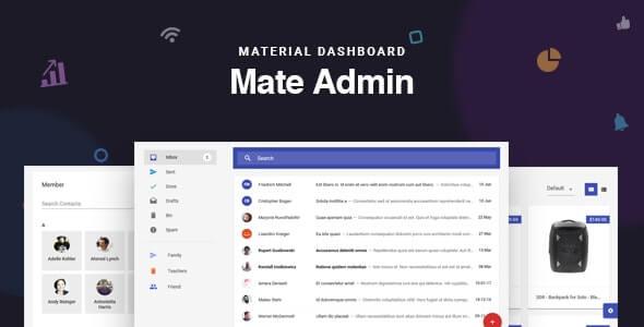 Mate React Redux Material Admin Dashboard