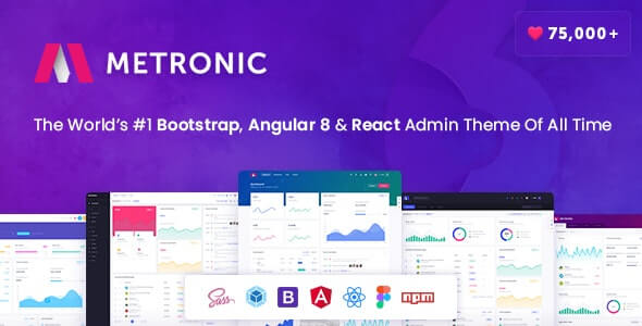 Metronic Bootstrap 4, Angular 8, React Admin Dashboard Theme