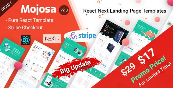 Mojosa React Next Landing Page Templates