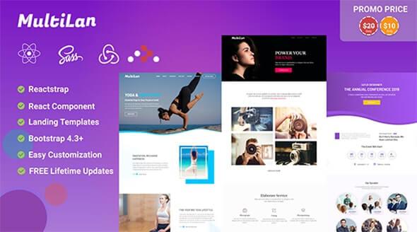 Multilan    React & Redux Multipurpose Creative Landing Page Template