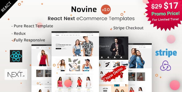Novine React Next eCommerce Templates