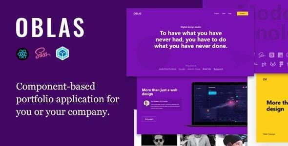 Oblas React App Portfolio