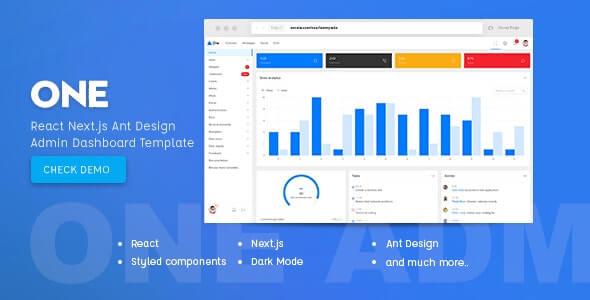 One React Next.js & Ant Design Admin Template