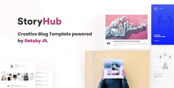 StoryHub React Gatsby Blog Template