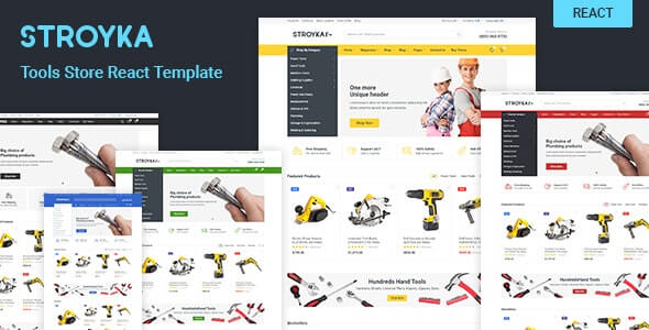 Stroyka Tools Store React eCommerce Template