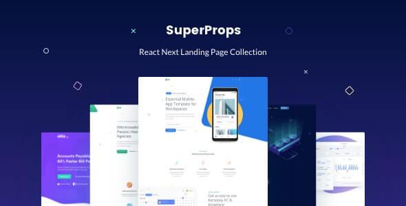 SuperProps React Next Landing Page Templates