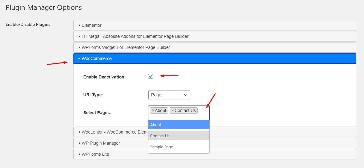 Disable or deactivate WordPress Plugins per page