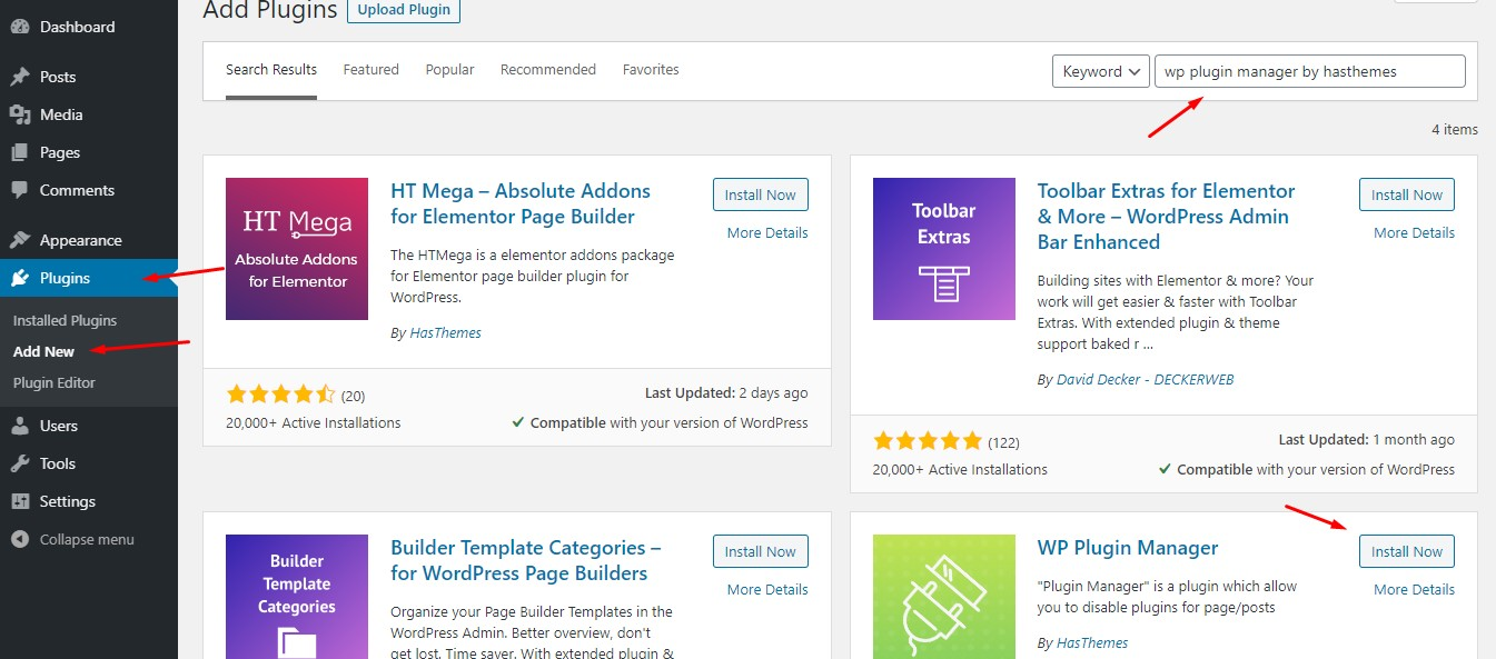 How to install WP Plugin Manager