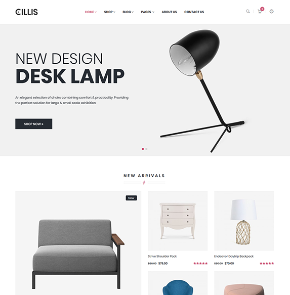 Cillis - Furniture eCommerce Bootstrap 4 Template