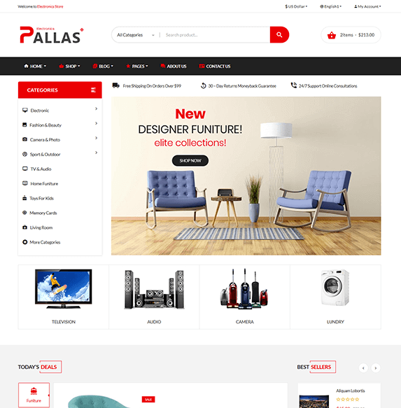 Pallas - eCommerce Bootstrap 4 Template