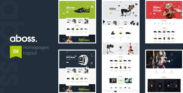 Aboss Fitness Equipment Store HTML Template