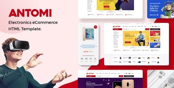 Antomi Electronics eCommerce HTML Template