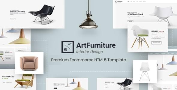 ArtFurniture Minimal Furniture Shop eCommerce HTML Template