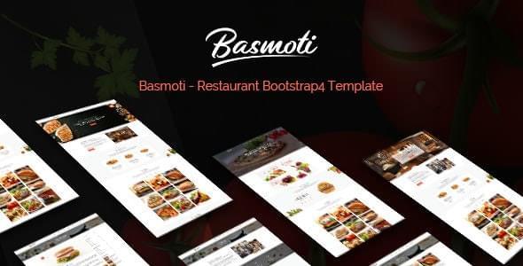 Basmoti Restaurant HTML Template