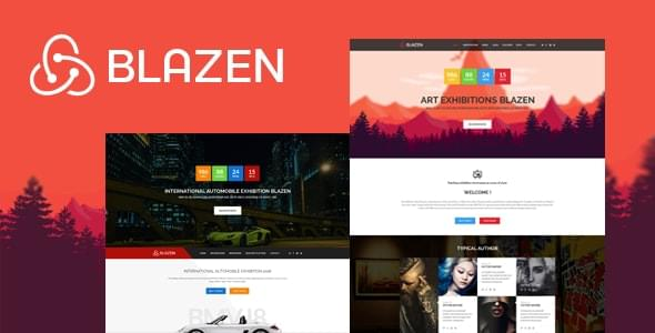 Blazen Event and Exhibition Bootstrap 4 Template