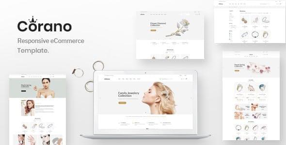 Corano Jewellery eCommerce Bootstrap 4 HTML Template