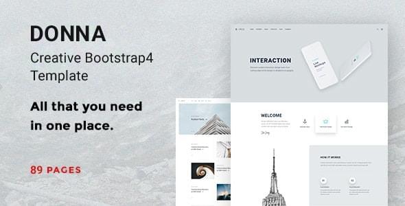 Donna Multipurpose Bootstrap 4 Template