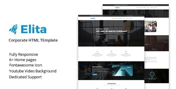 Elita Corporate HTML Template