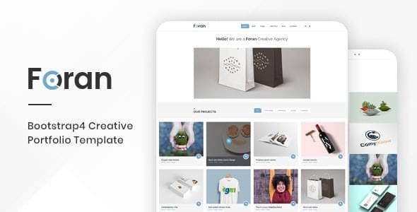Foran Creative Portfolio Bootstrap 4 Template