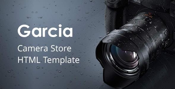 Garcia Camera Store HTML Template