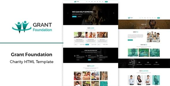 Grant Foundation Nonprofit Charity HTML Template