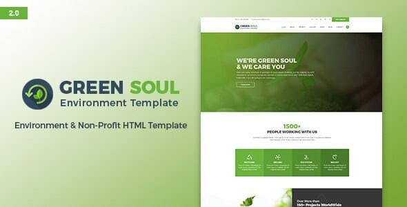 Green Soul Environment and Nonprofit HTML Template