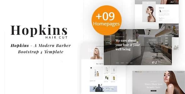Hopkins Barber Shop & Hair Salon HTML Template