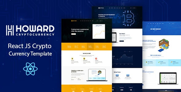Howard React JS Crypto Currency Template