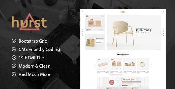 Hurst Furniture Store eCommerce HTML Template
