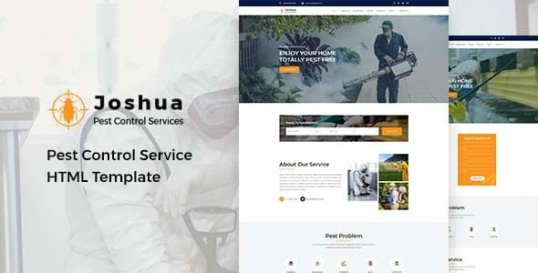 Joshua Pest Control Service HTML Template