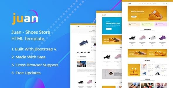 Juan Shoes Store HTML Template