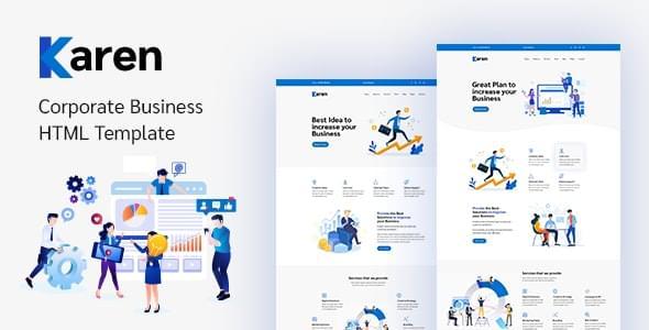 Karen Corporate Business Bootstrap 4 Template