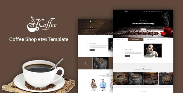 Koffee Coffee Shop HTML Template