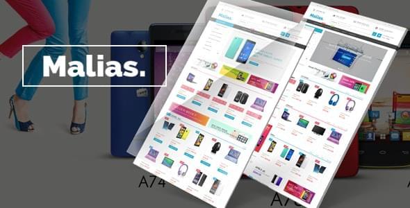 Malias Electronics Shop eCommerce HTML Template