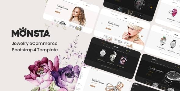 Monsta Jewelry eCommerce Bootstrap 4 Template