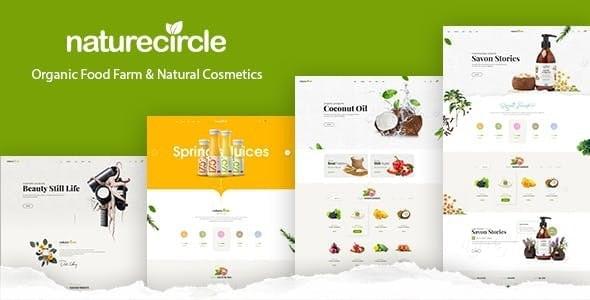 Naturecircle Organic Food & Beauty Shop HTML Template