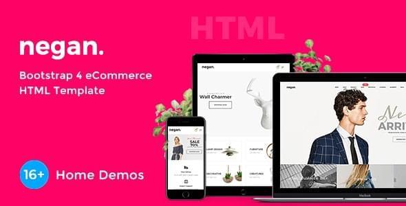 Negan Minimal eCommerce HTML Template