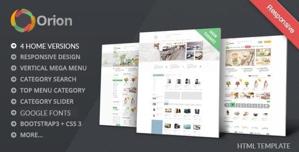Orion Mega Shop eCommerce HTML Responsive Template