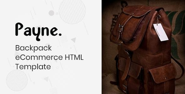 Payne Backpack eCommerce HTML Template