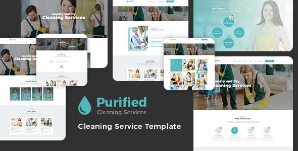 Purified Cleaning Service Agency HTML Template