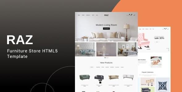Raz Furniture Store HTML5 Template