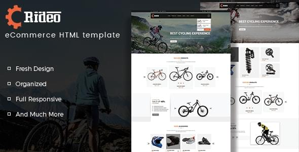 Rideo Bicycle Store HTML Template