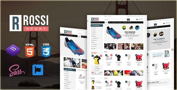 Rossi Sports Store HTML Template