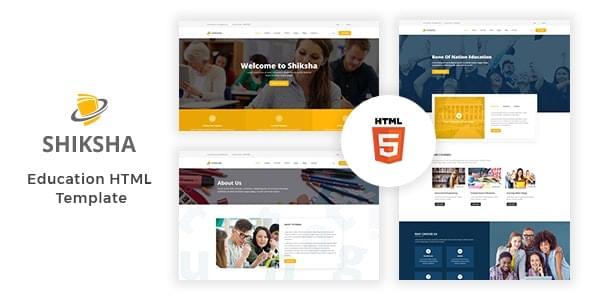 Shiksha Education HTML Template