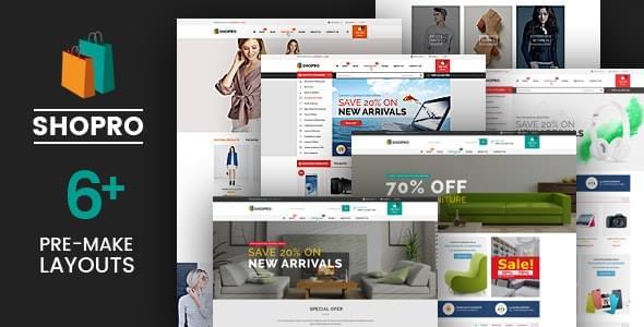 Shopro Fashion Electronics Store HTML Template