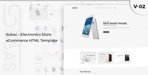 Subas Electronics Store eCommerce HTML Template