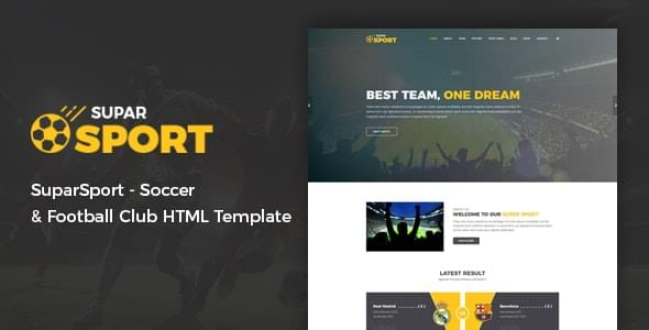 SuparSport Soccer and Football Club HTML Template